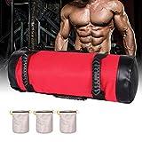 Bolsas de Arena para Levantamiento de Pesas Power Bag con Asas y Cremallera Fitness Ajustable en...