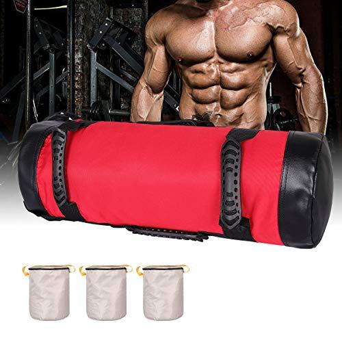 Bolsas de Arena para Levantamiento de Pesas Power Bag con Asas y Cremallera Fitness Ajustable en Pesode Levantamiento Pesas,Ejercicio,Carrera Pesas y Entrenamiento Funcional Power(5kg-20Kg)