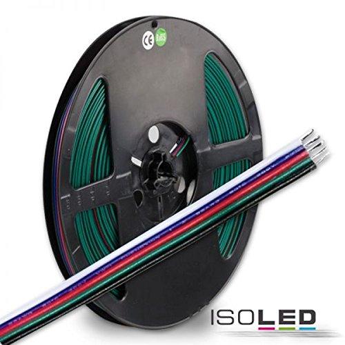 ISO LED RGB+W Kabel, 5-polig, Farbkennzeichnung, 5x0, 5mm², 1 Bund = 10m