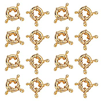 20PCS Golden Spring Clasps for Jewelry Making Spring Ring Clasps Closed Ring Clasps Connector 15mm…