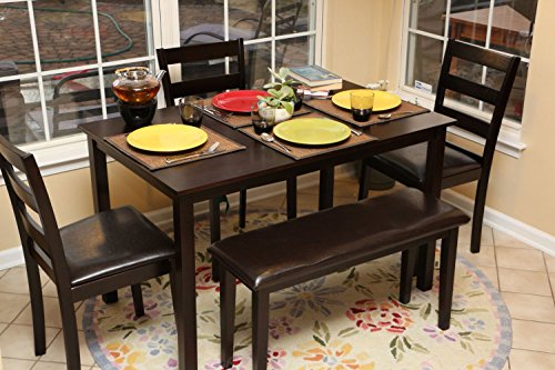 Home Life 150232 Life Home 5pc Dining Dinette Table Chairs