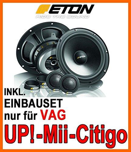VW Up, Seat MII, Skoda Citigo - Eton POW 172.2 Compression - 16cm 2-Wege System - Einbauset