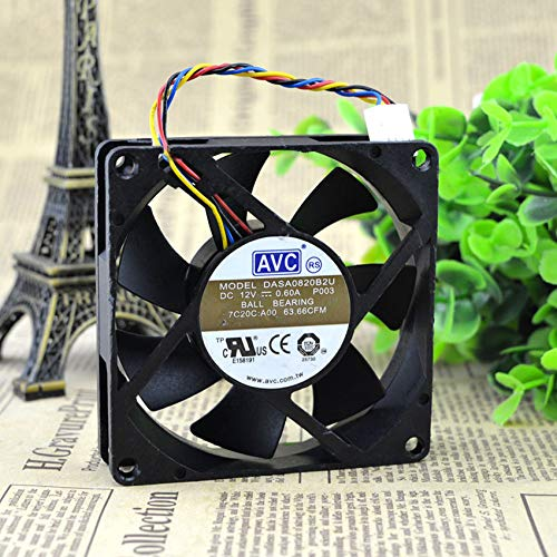 FOR AVC DASA0820B2U 8020 12V 0.60A 8cm 4-wire CPU chassis cooling fan
