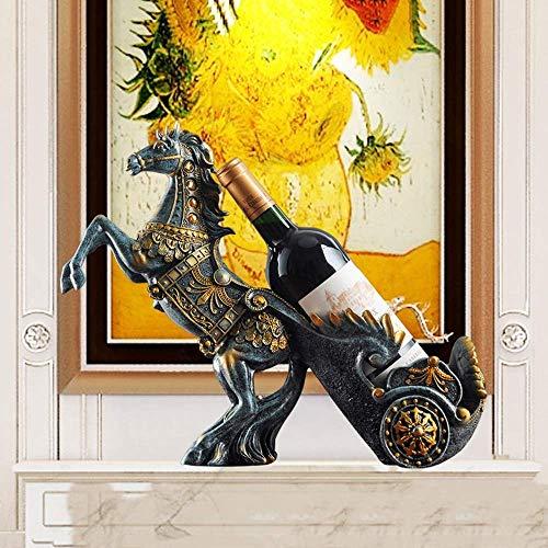 ZKAIAI retro Moderno Estilo Realista Crafts caballo Resina estante del vino del refrigerador de vino decoración hecha a mano hace el regalo a Europa Y América Home Living entrada de estudio del dormit