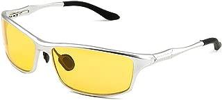 TELAM Aluminum-magnesium Polarized Night Vision Goggles, Night Driving By Car Mirror, Aluminum-magnesium Polarized Night Driving Special Glasses.