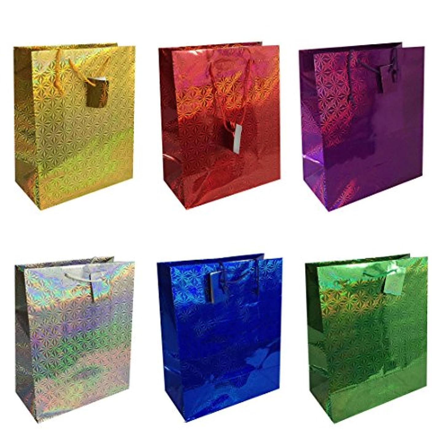 Allgala 12-PC Premium Hologram Gift Bags, 13