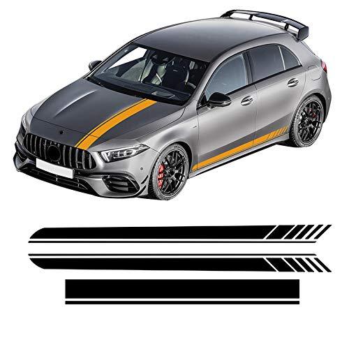 OceanAutos per Mercedes Benz Classe A W177 V177 A35 A45 A45S W176 AMG, Decalcomania per Cofano Auto, Adesivo per Gonna a Strisce Laterali,Accessori