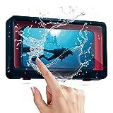 Schutzhülle für Handy, Wandmontage, Touchscreen, für Badezimmer, Handyhalterung, wasserdicht, für Handys unter 6,8 Zoll (6,8 Zoll), Marineblau