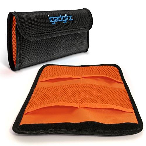 iGadgitz U4537 4 Tasche Custodia Pochette Porta Filtri Lenti Obiettivo Compatibile con Reflex e Fotocamere DSLR