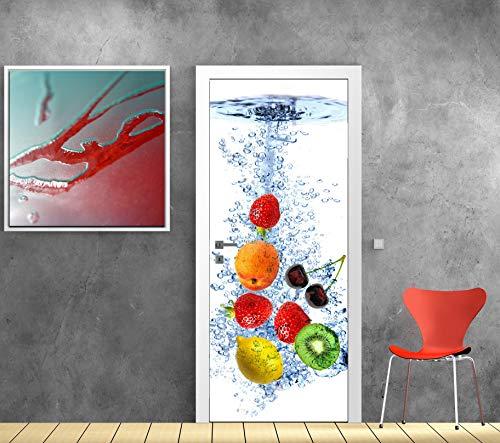 Art Deco Sticker Türposter – Früchte – 73 x 204 cm