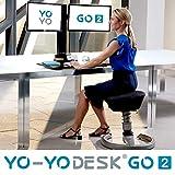 Yo-Yo DESK GO 2 (SCHWARZ) | Meistverkaufter Höhenverstellbarer Schreibtisch Mit Integrierter Säule Und Dual Monitorhalterung Für Benutzer über 180 cm | Integrierte Kabel- und Stiftbox - 2