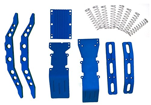 RC Raven E-Maxx, 3903, 3905 or 3908 Blue Anodized Aluminum Package Super Deal with Free Dual Rate Shock Springs