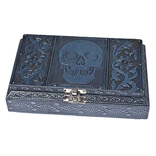 HAB & GUT -BOX0121- Caja joyero de Aluminio, Calavera...