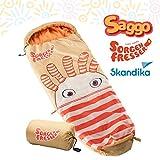 skandika Sorgenfresser - sacco a pelo - bambini - 170 cm - -12°C (arancio)