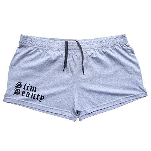 Alivebody Uomo Bodybuilding Pantaloncini corti Boxer Elastico 3 Inseam grigio M