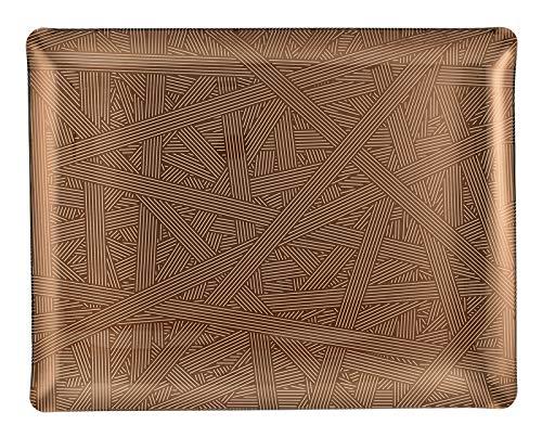 PLATEX 4046361183 Plateau Acrylique-ARTDECO, Bronze, 46x36cm