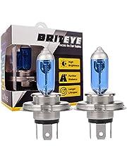 Briteye(まぶしい) ヘッドライトバルブ H4 H9 H11 H3 HB4 ハロゲンランプ 高効率 55W 12V バイク/車用