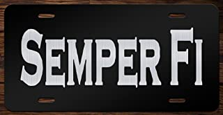Semper Fi Marine Corps Vanity Front License Plate Tag KCE077