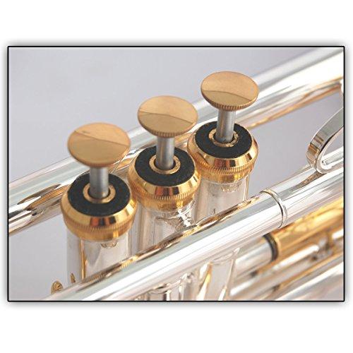 3 Soundman® Ventildeckel für Trompete - Metall - Fingerknöpf/Valve Caps Set mit 3 Stück