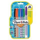 Paper Mate InkJoy 100 CAP Wrap bolígrafos con carcasa de color, punta media, colores surtidos, paquete de 8