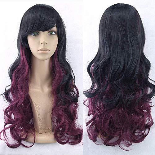 Wghz Bunte lockige Cosplay perücken kunsthaar volle spitzefrontseite perücke Frauen hitzebeständige Haar perücke 28 Zoll p