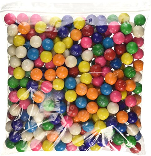 Dubble Bubble One Inch Gumballs Assorted Flavors 5 Pound Bag - 10 pack