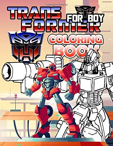 Transformer For Boy Coloring Book: Unofficial Transformer For Boy Adult Coloring Books