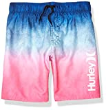 Hurley Boys' Big Pull On Board Shorts, Blue/Pink Ombre, XL