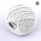 Sosa 100m 1.5mm-2mm Colores Dobles Cuerda de algodón DIY Artesanías Hechas a Mano Tejido Cordones Accesorios Decoraciones Regalos Etiqueta de Embalaje Cordón, Color 08