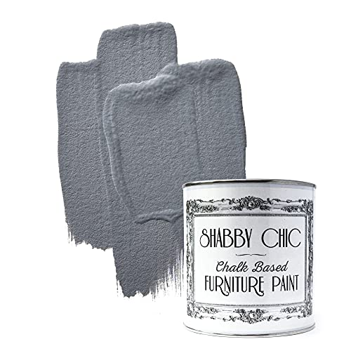 Shabby Chic Furniture Chalk Paint: Chalk Based Furniture and Craft Paint for Home Decor, DIY Projects, Wood Furniture - Chalked Interior Paints with Rustic Matte Finish - 250ml - Pebble Grey