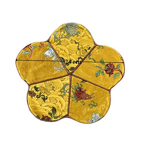 Goddness Bar Tapis de Plateau de thé en Tissu décoratif Coaster Retro Pad Tapis (Style 17)