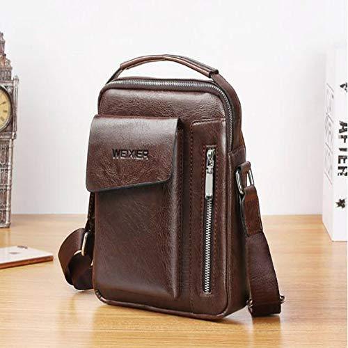 JHMAOYI Herren Umhängetasche Fashion Trend Messenger Bag Casual Jugend Klein Rucksack Outdoor Sport Herren Tasche, Dunkelbraun (Braun) - UOPL-4528