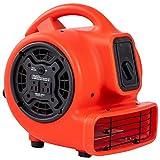 MOUNTO 1/5hp 3 Speed 800cfm Mini Commercial Air Mover Floor Dryer Fan