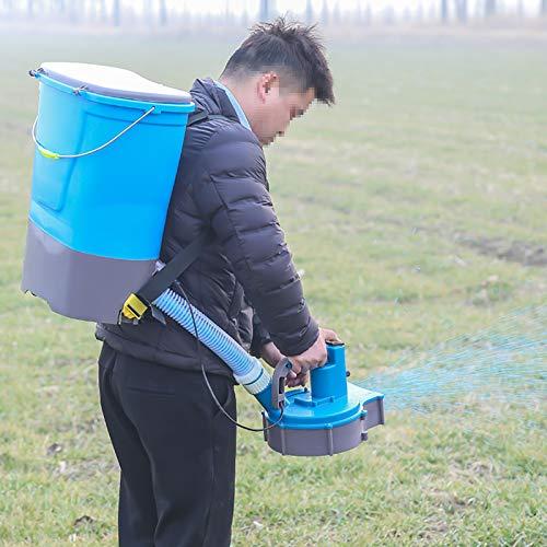 BJYX Esparcidores de Semillas de Césped Eléctrico Dosificador de Fertilizante Multifuncional para Tierras de Cultivo Arrozal Césped Huerto Estanque de Peces Granja de Cría Huerto