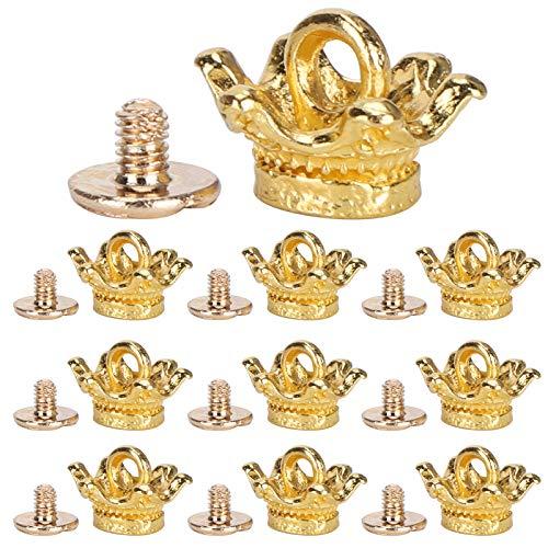 Fydun Corona pequeña para Hacer Joyas, Colgante de Corona, Colgantes de dijes de Corona de aleación para Hacer Manualidades(Oro)