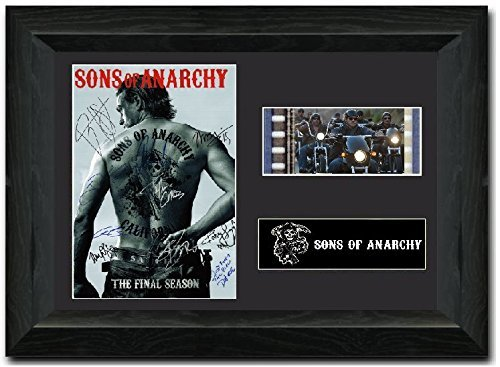 Sons of Anarchy S2 Signed Atemberaubende Kult Retro 35 mm Filmzelle, gerahmt Display