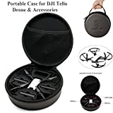 Crazepony-UK DJI Tello Drone Portable Etanche Valise,Carrying Case Bag Sac for DJI Tello Drone and Accessoires, Fits for 3 Drone Batterie, USB Charge Cable, Drone Body ( Propellers Guards on )