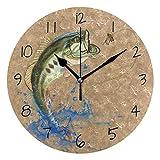 MIKA 悪賢い低音 跳躍 魚釣り 時計 クロック 壁掛け 掛け時計 かけ時計 壁掛け時計 インテリア 家具 おしゃれ オシャレ お洒落 デザイン 連続秒針