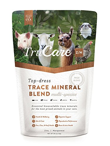 TruCare Z/M Top-Dress Trace Mineral Blend for Multi-Species: Pigs, Sheep, Llamas, Rabbits, Poultry (Zinc, Manganese)
