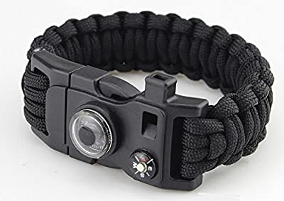 Paracord Survival Bracelet with Compass, Firestick and Multi-Tool by Contek