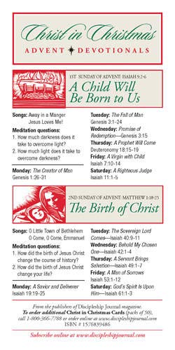 Christ in Christmas Advent Devotionals