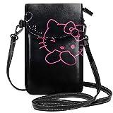 Borse piccole a tracolla Porta cellulare Bella stampa Hello Kitty con fessure per carte di credito
