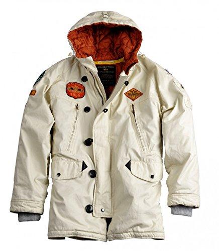 Alpha Industries Jacke Airborne Hood Parka, Farbe:off white;Größe:2XL