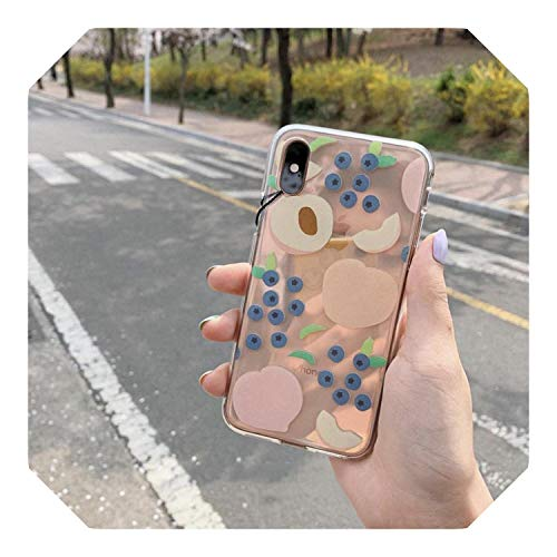 De dibujos animados de Verano Suave Transparente TPU Teléfono Caso Para iPhone 11 Xs MAX XR 6s 7 8 Plus SE Silicona Cubierta Trasera