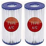 Cartucho de filtro de repuesto para filtro de piscina, para Bestway Tipo I II III VI VII e Intex tipo A C D, cartucho de bomba para piscinas de spa, (4 unidades), Tipo III/A&C