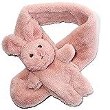 Kids Faux Fur Scarf Fluffy Furry Rabbit Scarf Cute Neck Warmer Winter Wrap Shawl for Girls Boys(Pink)