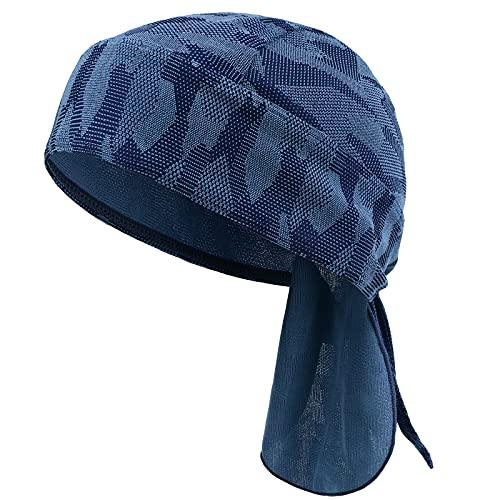 HASAGEI Sports Bandana Cap Herrem Damen Biker Bandanas Kopftuch Hat (Blau)