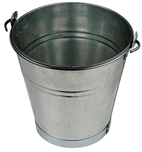 Zinkeimer Blecheimer verzinkt 15 Liter mit Bodenring Wassereimer Metalleimer Eimer Dekoeimer (15 Liter mit Bodenring)