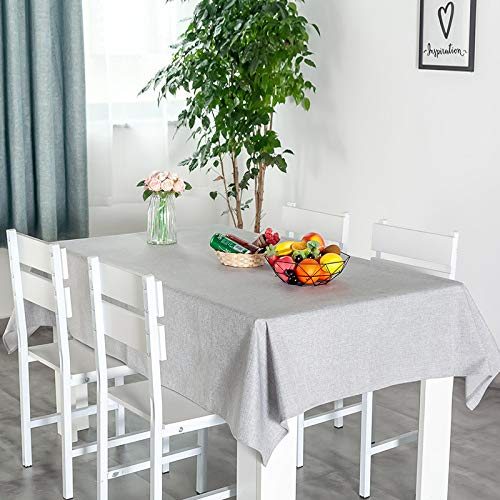 Mantel Resistente al Agua y sin Aceite Manteles de Color sólido Toalla de algodón y Lino Cuadrado 120 * 120cm Multicolor