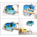 Sticker 3D Effekt | Wandaufkleber Pferd - Tapete Dekoration optische Täuschung Raum und Wohnzimmer | 60 x 90 cm - 5
